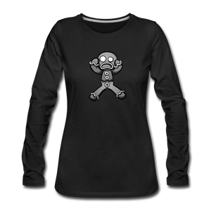 Gingerbread Nightmare Women's Premium Long Sleeve T-Shirt - black