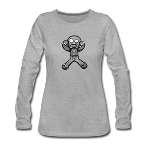 Gingerbread Nightmare Women's Premium Long Sleeve T-Shirt - heather gray