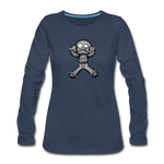 Gingerbread Nightmare Women's Premium Long Sleeve T-Shirt - navy