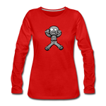 Gingerbread Nightmare Women's Premium Long Sleeve T-Shirt - red