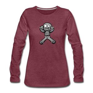 Gingerbread Nightmare Women's Premium Long Sleeve T-Shirt - heather burgundy