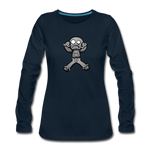 Gingerbread Nightmare Women's Premium Long Sleeve T-Shirt - deep navy