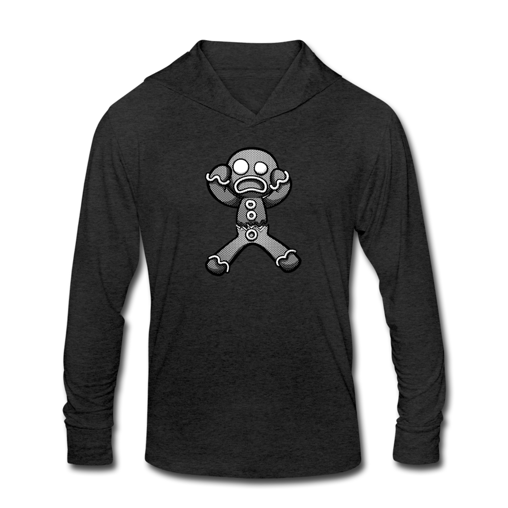Gingerbread Nightmare Tri-Blend Hoodie Shirt - heather black