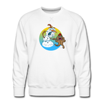 Run Run Premium Sweatshirt - white