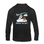 Spread the Joy Unisex Tri-Blend Hoodie Shirt - heather black