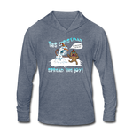 Spread the Joy Unisex Tri-Blend Hoodie Shirt - heather blue