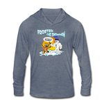 Frosted the Snowman Unisex Tri-Blend Hoodie Shirt - heather blue