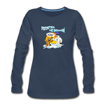 Frosted the Snowman Women's Premium Long Sleeve T-Shirt - navy