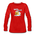 Frosted the Snowman Women's Premium Long Sleeve T-Shirt - red