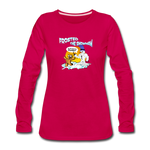 Frosted the Snowman Women's Premium Long Sleeve T-Shirt - dark pink