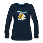 Frosted the Snowman Women's Premium Long Sleeve T-Shirt - deep navy