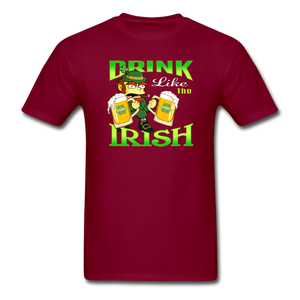 Drink Like The Irish 3 - burgundy