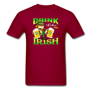 Drink Like The Irish 3 - dark red