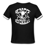 Knot Knormal Octoflicker Ringer Tee - black/white