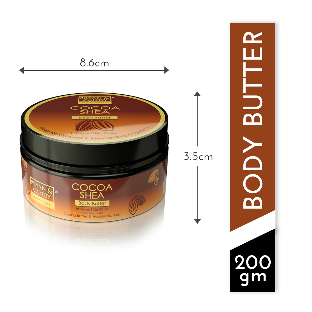 Cocoa Shea Body Butter measurement