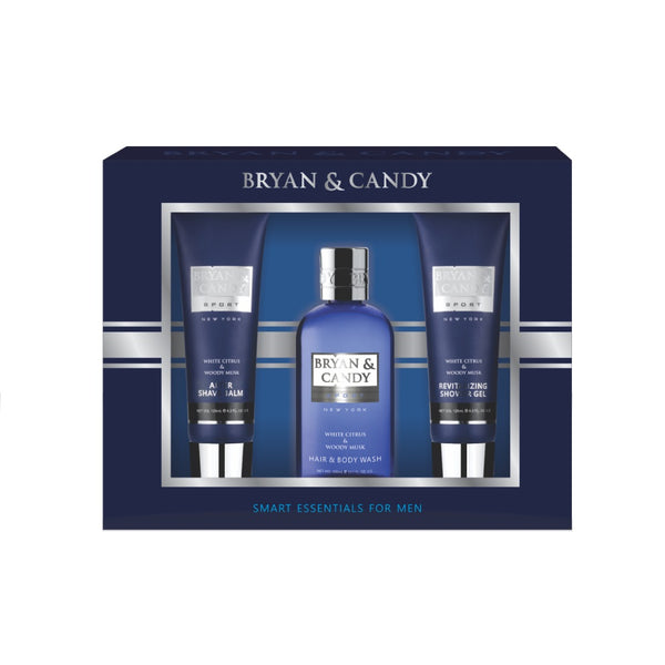 Gift Box For Him - Bath Essential - White Citrus and Woody Musk Fragrance