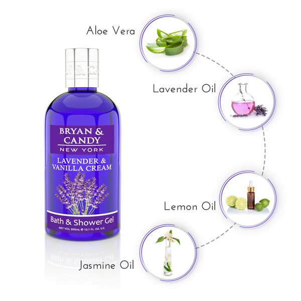 Lavender and Vanilla - Bath & Shower Gel 300ml