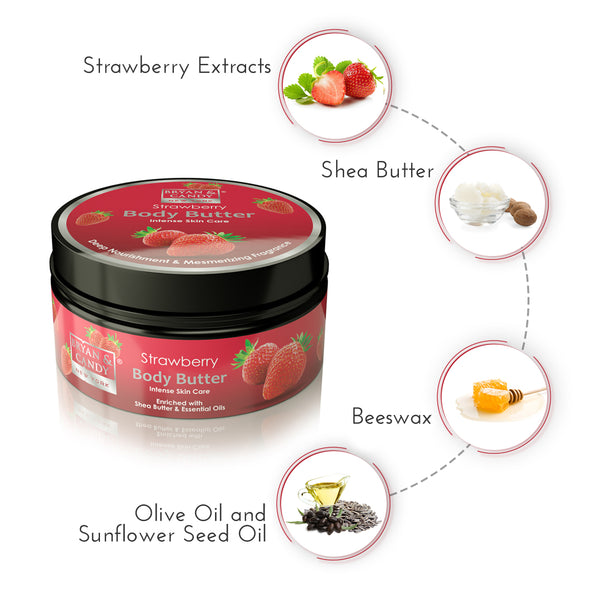 Strawberry - Body Butter 200gm