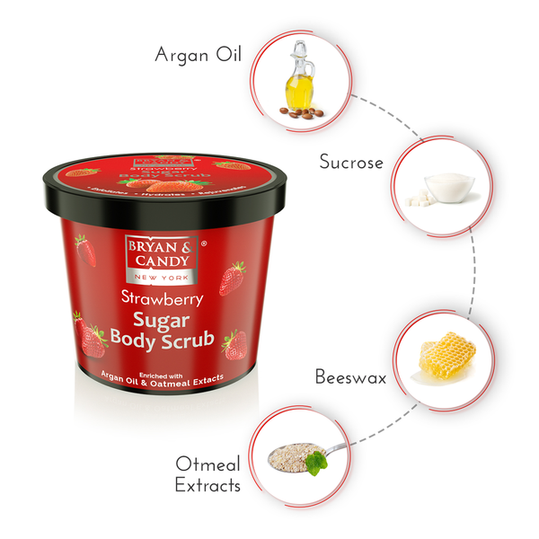 Strawberry - Sugar Body Scrub 200gm