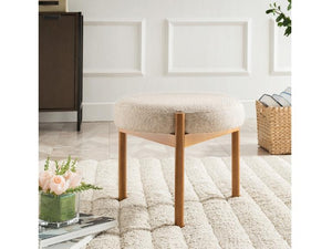 Carolyn Round Upholstered Ottoman