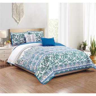 Caspin  5Pc. Printed Quilt Set