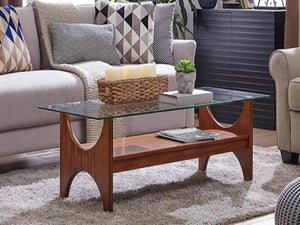 Syden Glass Top Cocktail Table