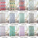 Printed Canvas 13Pc Shower Curtains Assorted