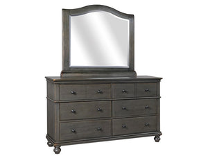 Oxford  6 Drawer Dresser with Arched Mirror