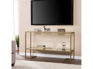 Horten Glam Narrow Console Gold with Mirror