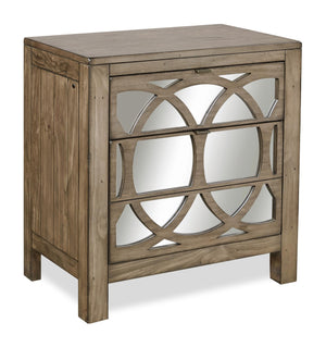 Tildon 2 Drawer Liv360 Mirrored  Night Stand