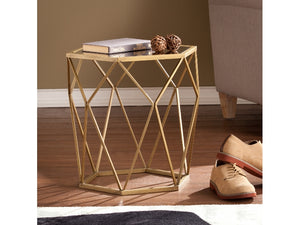 Joelle Geometric Accent Table