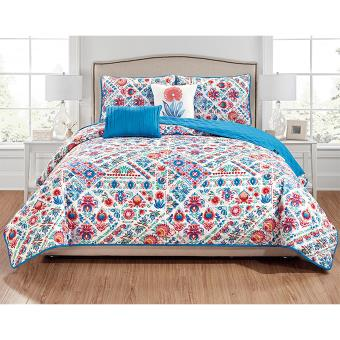 Tatyana 5Pc Printed Quilt Set