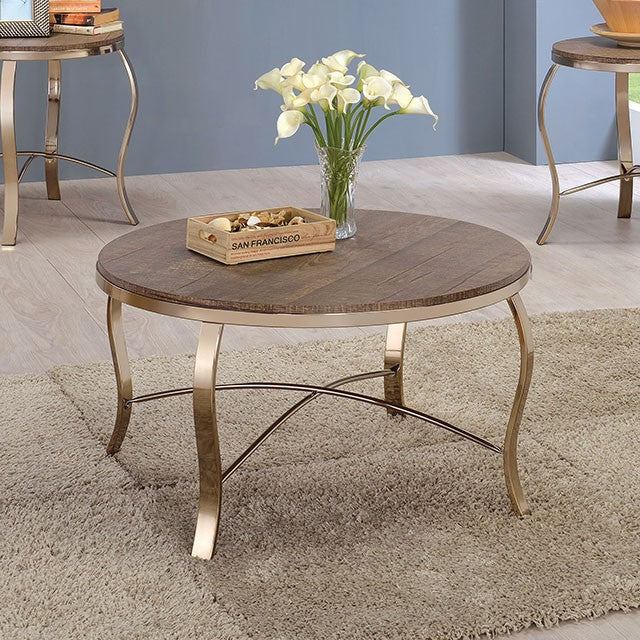 Wicklow 3Pc  Table Set, Champagne