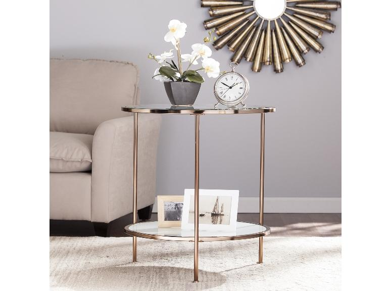 Risa End Table Gold