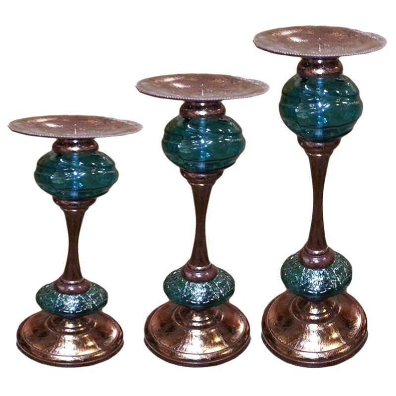 Bonaparte Pillar Glass Candlestick