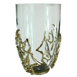Lino Seas Glass Coral Candle Holder