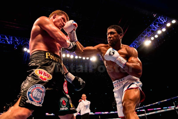 Anthony Joshua In Action - Poster