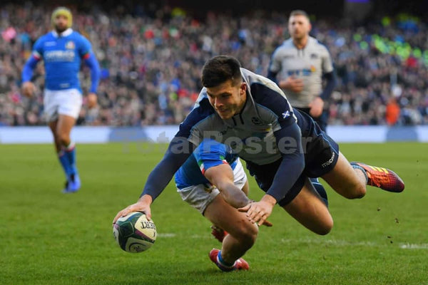 Blair Kinghorn touches down | Scotland Italy Six Nations TotalPoster