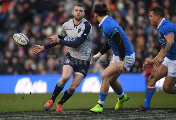 Finn Russell passes | Scotland Italy Six Nations TotalPoster