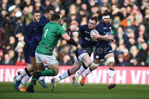 Stuart Hogg hands off | Scotland Six Nations posters