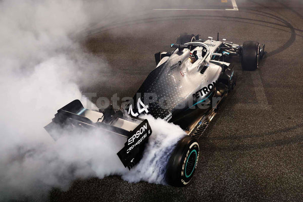 Lewis Hamilton Donuts | Merceded F1 Poster | TotalPoster