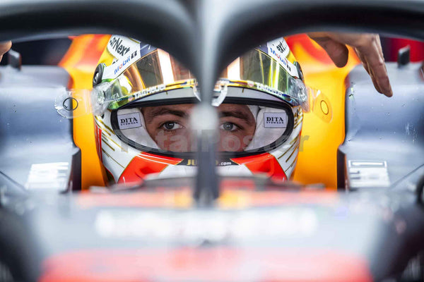 Max Verstappen of the Netherlands and Aston Martin Red Bull Racing in the garage during day one of F1 Winter Testing at Circuit de Catalunya, Spain on 20/02/20 | TotalPoster