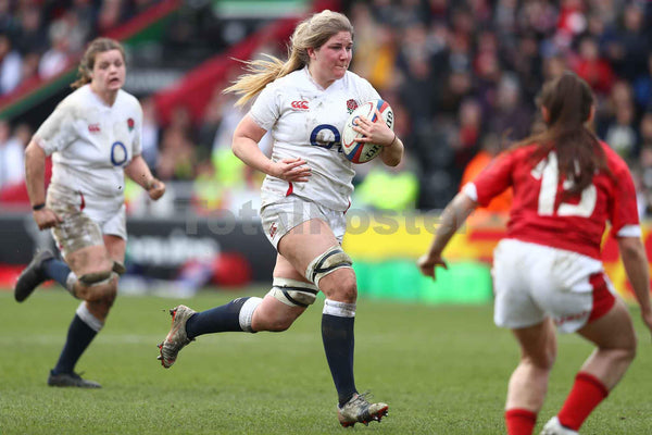 Poppy Cleall scores 4th try | Womens Six Nations Rugby Poster