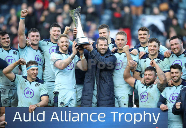 Scotland Celebrate French Victory | Scotland SIx Nations Poster