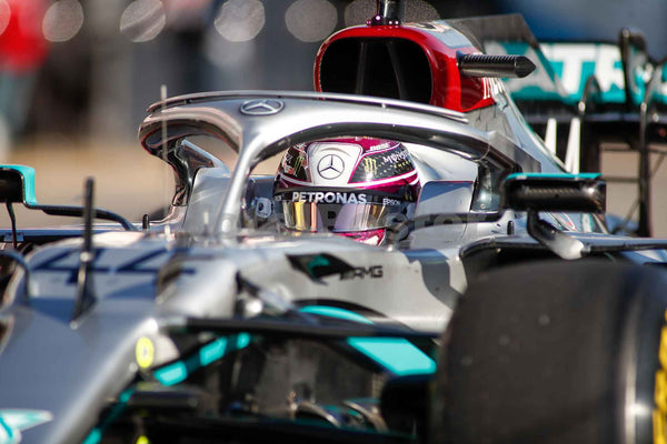Lewis Hamilton of Mercedes AMG in Pit Lane during day one of Formula 1 Winter Testing at Circuit de Barcelona-Catalunya on February 20, 2020