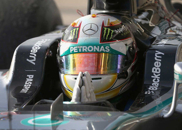 Lewis Hamilton of Great Britain and Mercedes F1 Grand Prix celebrates in Parc Ferme following his victory in the United States Formula One Grand Prix at Circuit of The Americas in Austin, United States | TotalPoster