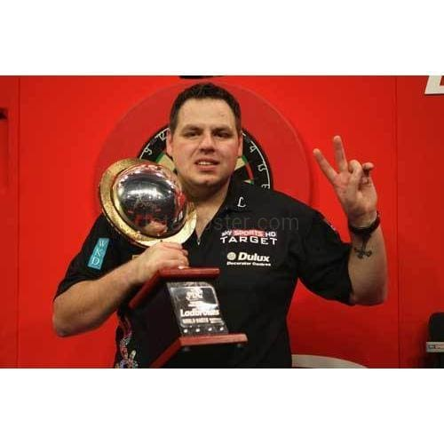 Adrian Lewis with the Trophy | Snooker Posters TotalPoster
