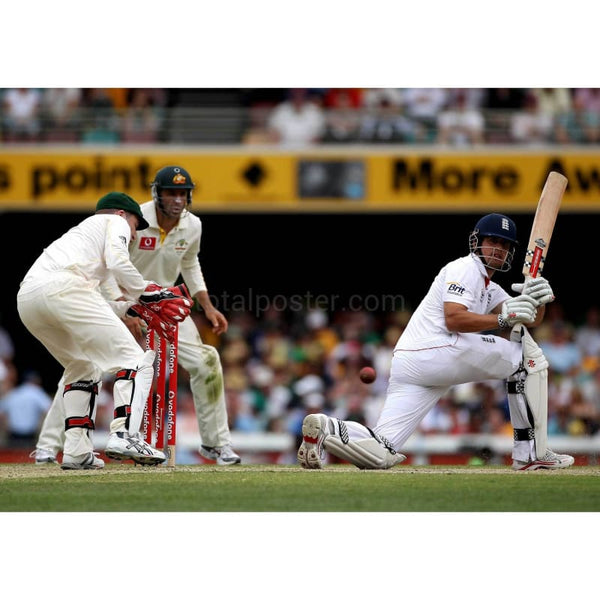 Alastair Cook hits out during day four of the First Ashes Test match between Australia and England at The Gabba | TotalPoster