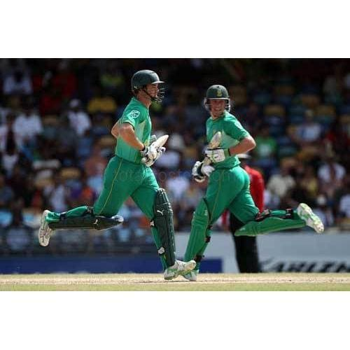 Albie Morkel and AB de Villiers during The ICC World Twenty20 Super Eight match between South Africa and New Zealand | TotalPoster