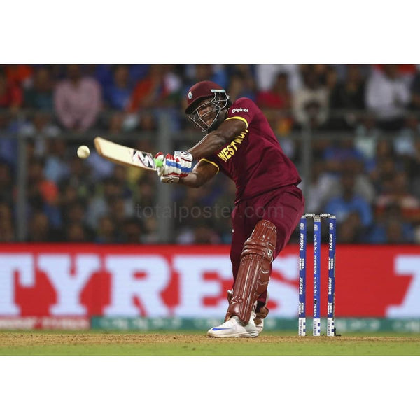 Andre Russell bats during the ICC World Twenty20 India 2016 Semi Final match between West Indies and India at Wankhede Stadium | TotalPoster
